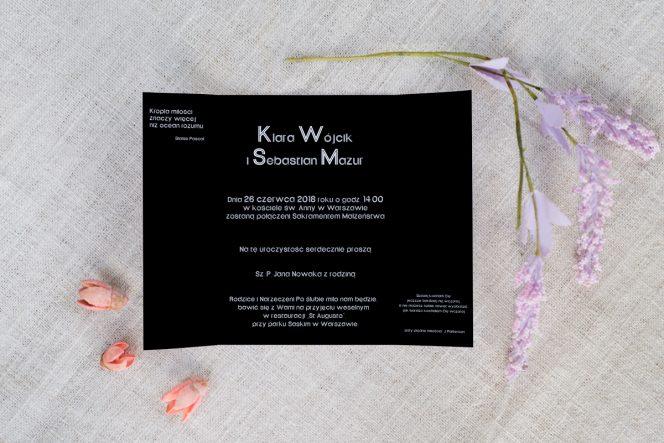 zaproszenie-slubne-czarno-biale-romantyczne
