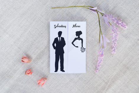 Zaproszenia Ślubne Czarne i białe