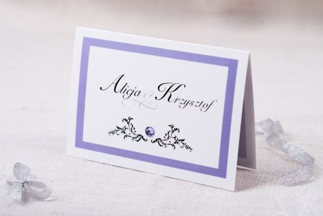 Eleganckie zaproszenie ślubne