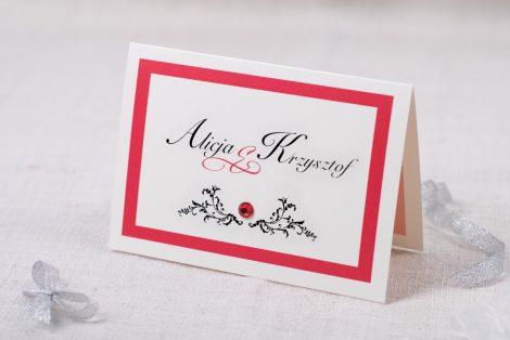 Eleganckie zaproszenia ślubne z brylancikiem