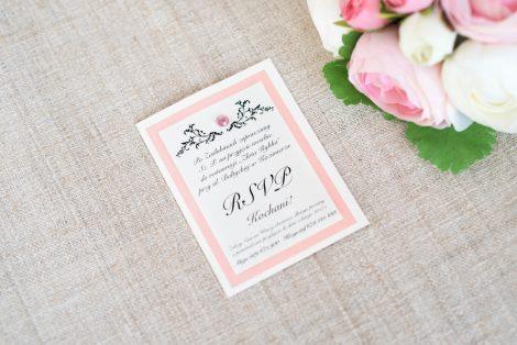 Elegancka wkładka do zaproszeń ślubnych