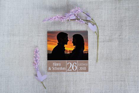 ślubne Zaproszenia Z Fotografią Rozsądne Panny Młode