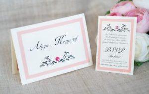 eleganckie zaproszenie na ślubną ceremonię