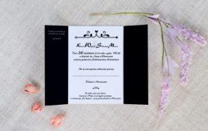 klasyczne zaproszenie ślubne