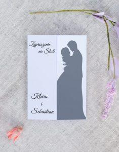 przykład gustownego modelu zaproszenia ślubnego