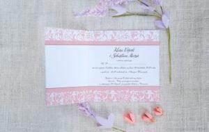 standardowe kwadratowe zaproszenie ślubne