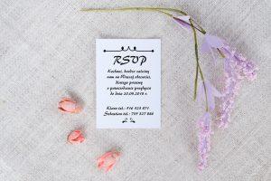 dodatkowa karteczka do zaproszenia ślubnego
