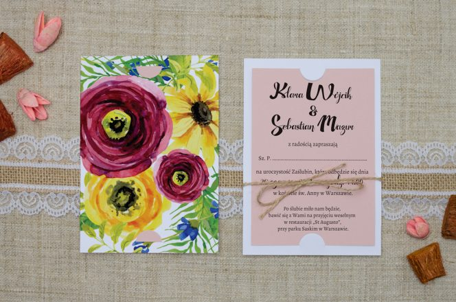 zaproszenie-slubne-rozowe-boho-polne-kwiaty