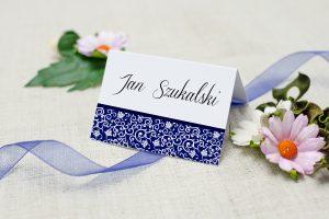 winietka ślubna kobaltowa