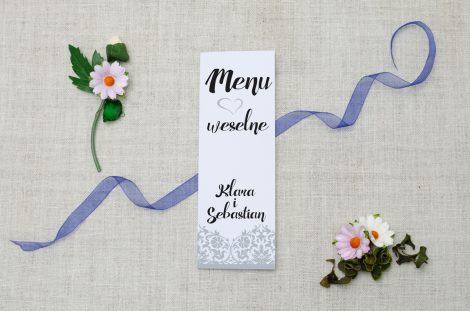 menu weselne srebrne