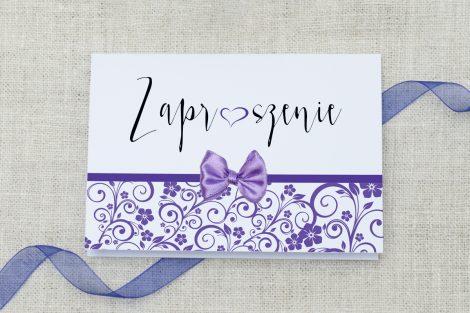 Zaproszenie ślubne Ornament z kokardką