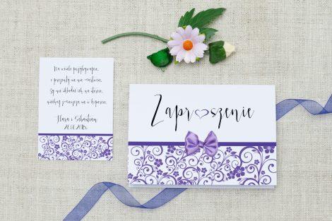 zaproszenie-slubne-ornament-kokardka-fioletowe-marzenie