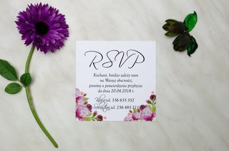 wkładka do zaproszeń ślubnych