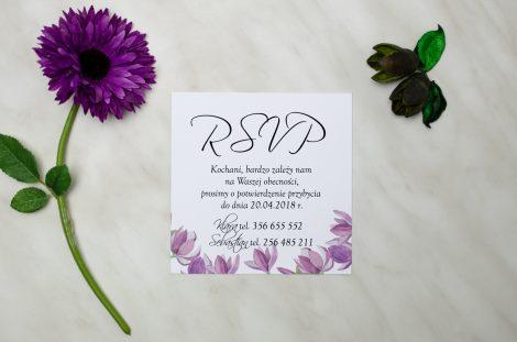 wkładka rsvp do zaproszenia slubnego