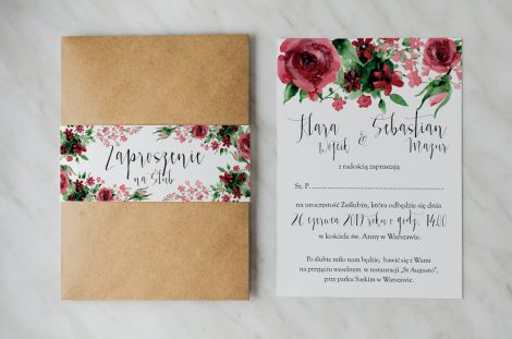 Zaproszenia Ślubne Boho