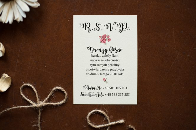 dodatkowa karteczka do zaproszenia