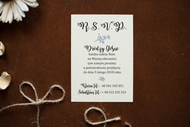 storczyki zaproszenia ślubne