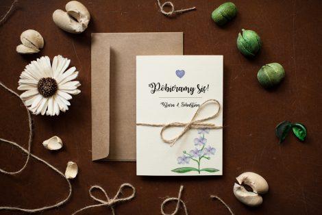 zaproszenia ślubne rustykalne storczyki