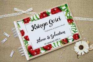 ksiega-gosci-eco-boho-floral-czerwone