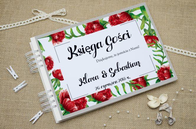 ksiega-gosci-szara-boho-floral-czerwone
