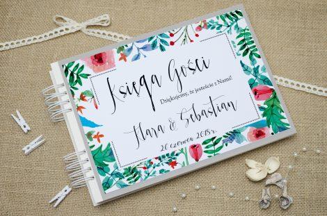 księga gości ślubnych boho floral