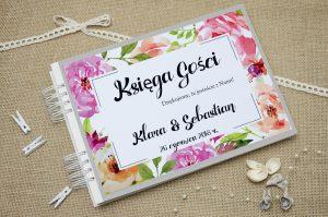 ksiega-gosci-szara-boho-floral-rozowe