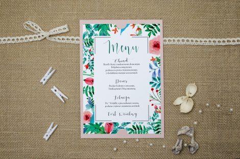menu-weselne-rozowe-boho-floral-zielone
