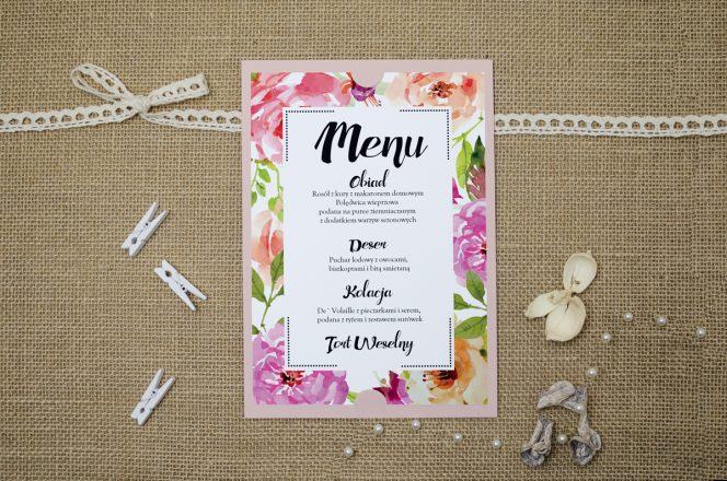 menu-weselne-rozowe-boho-floral-rozowe