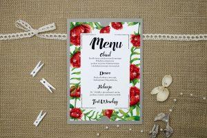 menu-weselne-szare-boho-floral-czerwone
