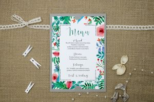 menu-weselne-szare-boho-floral-zielone
