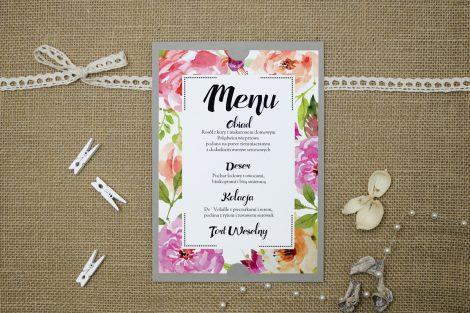 menu-weselne-szare-boho-floral-rozowe
