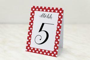 numer-stolika-czerwone-serduszka
