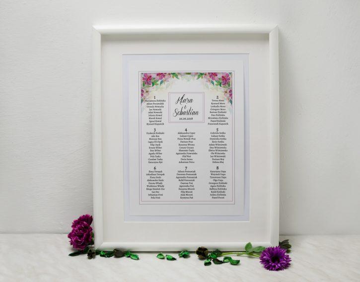przykład planu stołów weselnych
