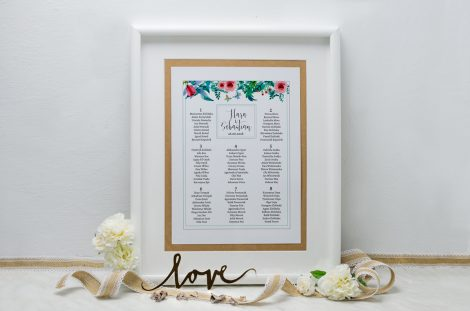 tablica-eco-boho-floral-zielone