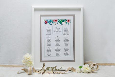 tablica-szara-boho-floral-zielone