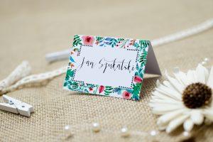winietka ślubna boho floral zielone