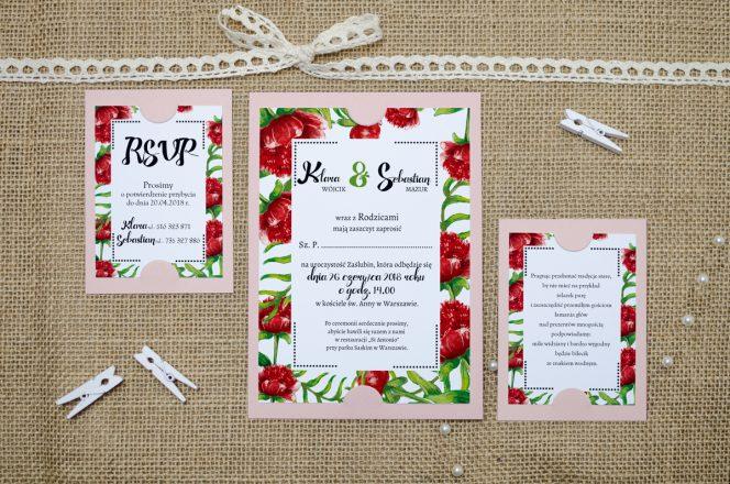 zaproszenie-slubne-rozowe-boho-floral-czerwone