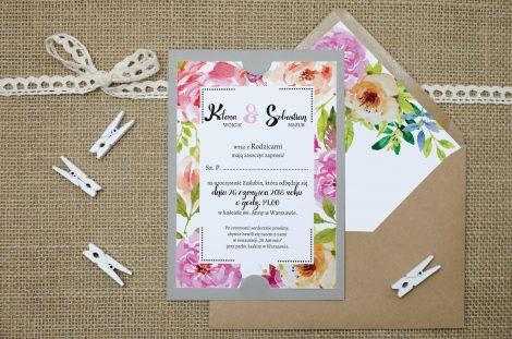 zaproszenie-slubne-szare-boho-floral-rozowe