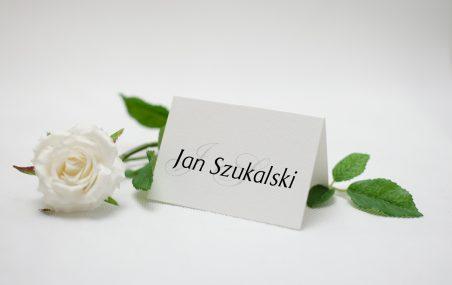 zdjęcie winietki na stół weselny