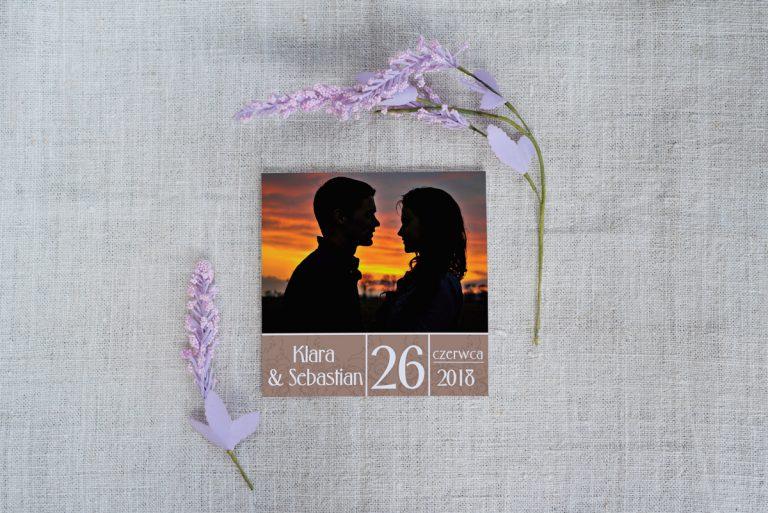 zaproszenie ślubne z fotografią