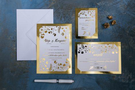 zlocone-zaproszenie-glamour-kwiat-paproci