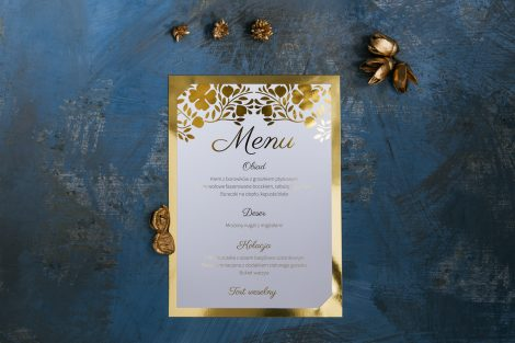 złocone menu