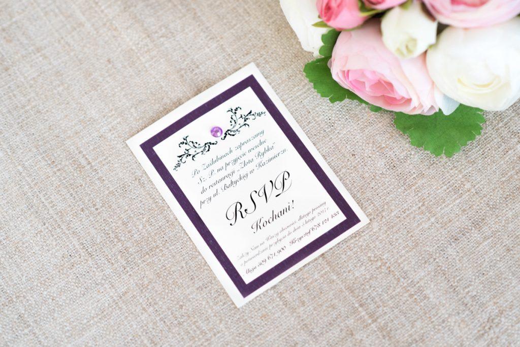 wkładka RSVP do zaproszenia ślubnego