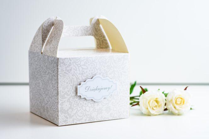 pudełko na ciasto weselne