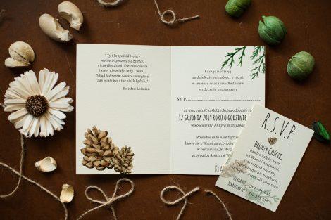 zaproszenie-rustykalne-zimowe-roze-i-sukulenty
